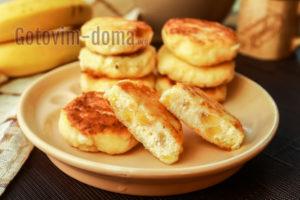 сырники с манкой и бананом