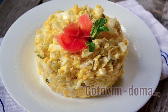 салат с семгой рецепт с фото пошаговый