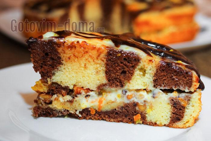 зебра пирог на молоке рецепт с фото