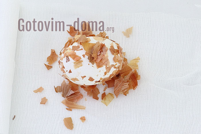 обсушиваем яйца