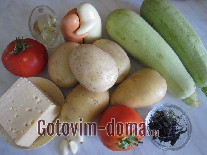 Молодые овощи для запекания