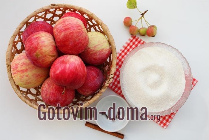 Продукты для варенья из яблок со специями