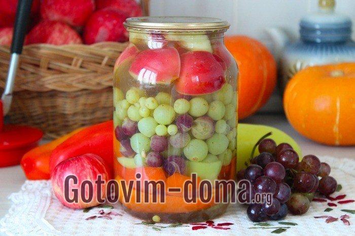 Маринованный виноград в банке на зиму