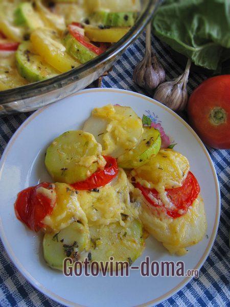 Молодые овощи с чесноком в духовке рецепт с фото