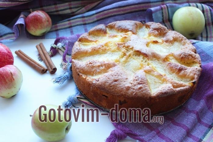 Самая вкусная шарлотка с яблоками и дыней