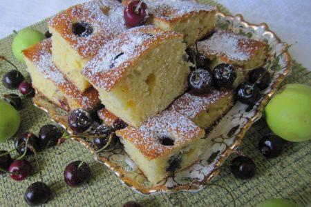 пирог с черешней рецепт с фото