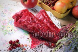 Пастила из яблок и красной смородины в сушилке