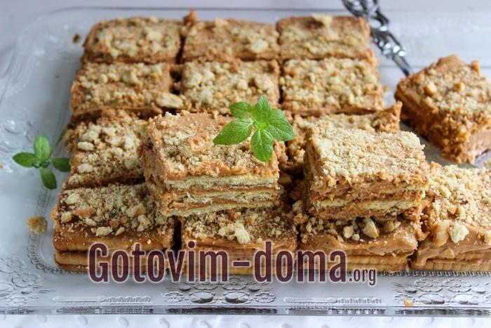 Торт из печенья и сгущенки со сметаной самый вкусный