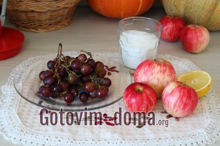 Яблоки и виноград для компота на зиму