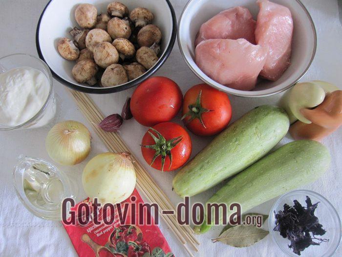 Продукты для шашлыка из курицы