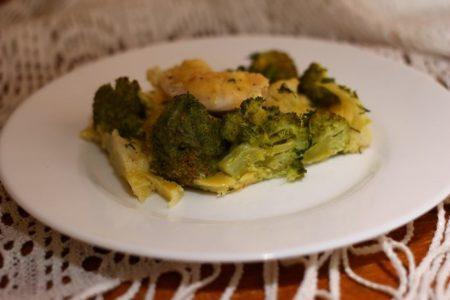 Куриное филе с цветной капустой и брокколи