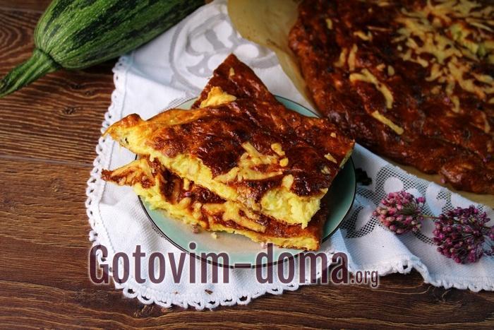 Запеканка из кабачков с грибами в духовке, рецепт с фото