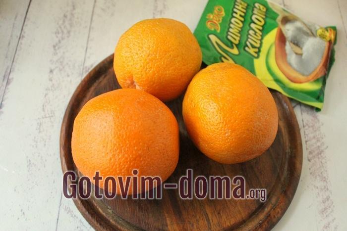 Апельсины для летнего напитка