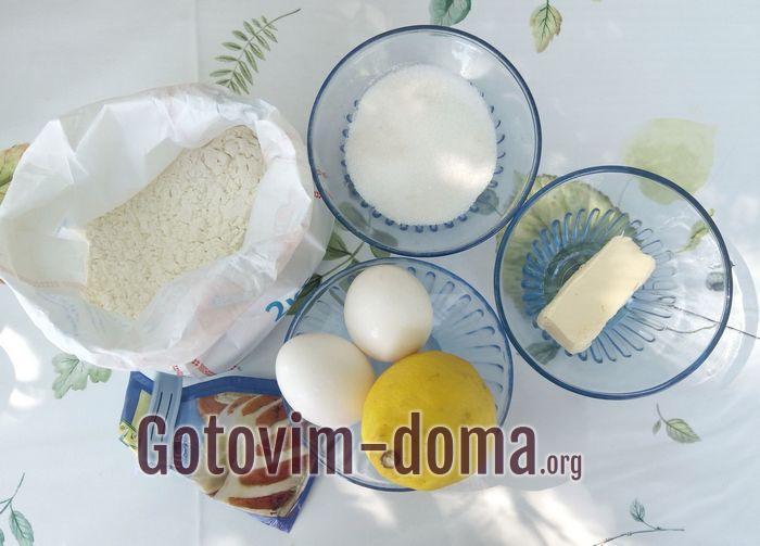 Продукты для Лимонный кекс в чашке