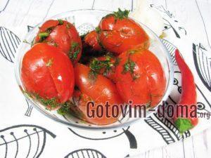 Малосольные помидоры в пакете, рецепт с фото