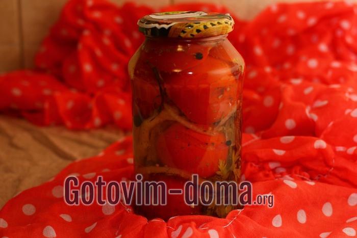 Помидоры с перцем болгарским на зиму, рецепт с фото