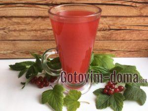 Морс из красной смородины с мятой, рецепт с фото