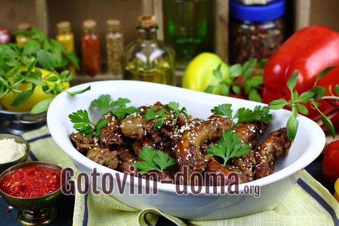 Куриные шейки в духовке, рецепт с фото