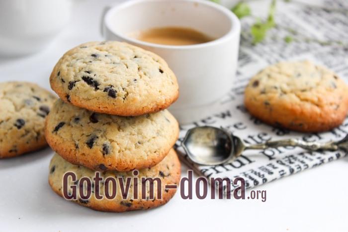 Как приготовить американское печенье с шоколадом