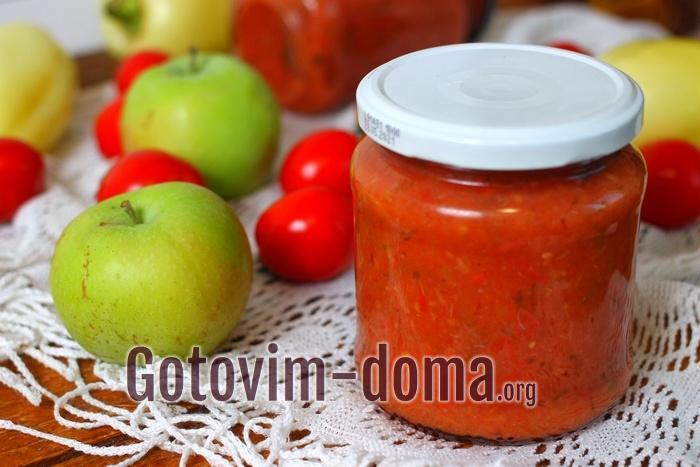 Томатный соус на зиму, рецепт с фото