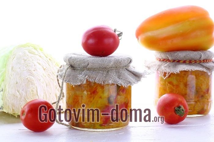 Вкусный овощной салат на зиму, рецепт с фото
