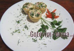 Тарталетки с сыром и помидорами, рецепт с фото