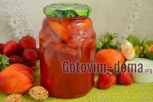 Компот из клубники и нектаринов на зиму, рецепт с фото