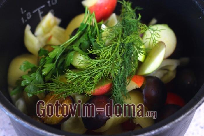 Укроп и петрушка для томатного соуса