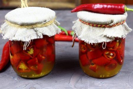 Маринованный горький перец с медом на зиму, рецепт с фото