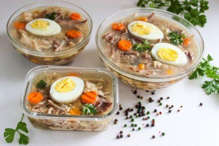 Холодец из говядины и курицы, рецепт с фото