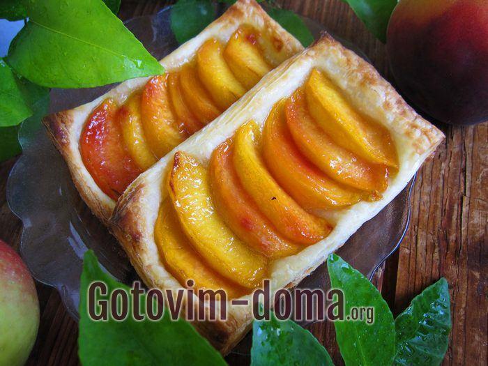 Готовые слойки с персиками самые вкусные