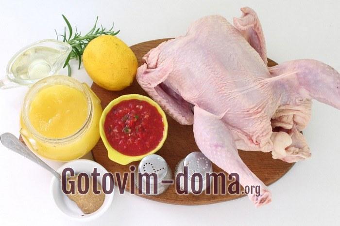 Курица и специи для запекания в духовке целиком
