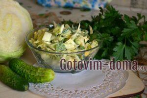 Быстрый салат с огурцом, рецепт с фото