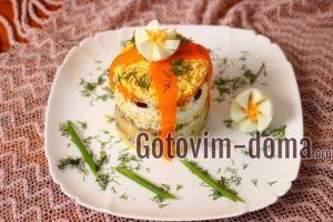Вкусный салат на праздничный стол, рецепт с фото