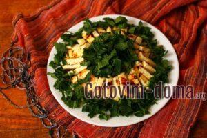 Салат из печеных овощей с жареным сыром, рецепт с фото