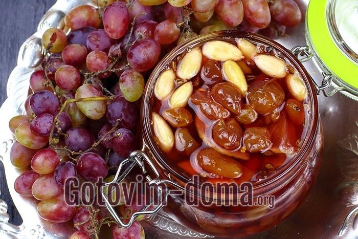 Виноградное варенье на зиму с лаймом и миндалем готово