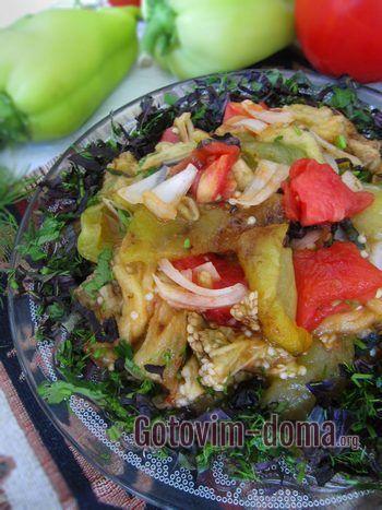 Армянский овощной салат готов.