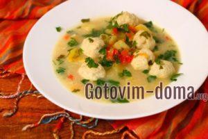 Сырный суп с куриными фрикадельками, рецепт с фото