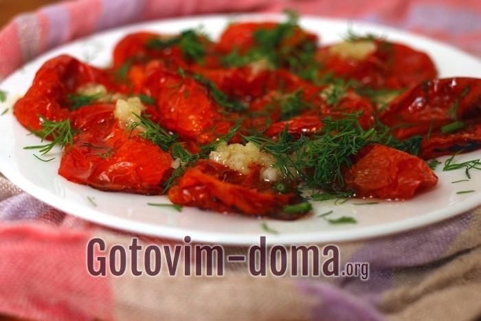 Как вкусно запечь помидоры в духовке