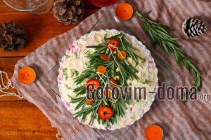 Новогодний салат Елочка, рецепт с фото