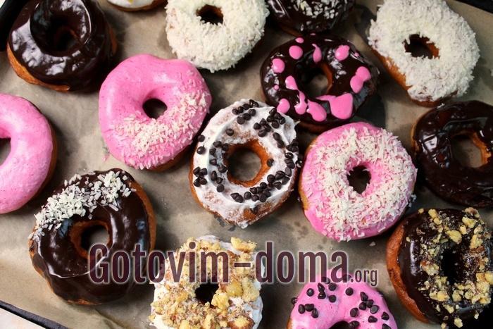 Готовые вкусные пончики в домашних условиях
