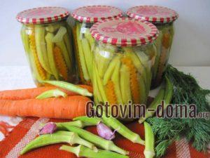 Маринованная бамия с морковью, рецепт с фото