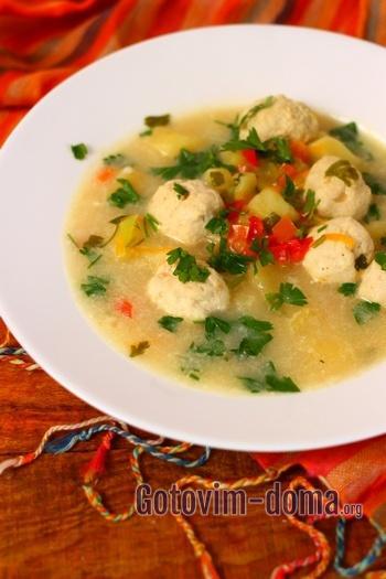 Сырный суп с фрикадельками пошаговый рецепт