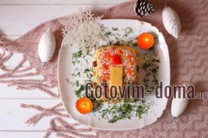Праздничный салат Свеча, рецепт с фото