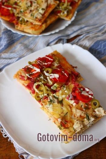Как приготовить дрожжевую пиццу.