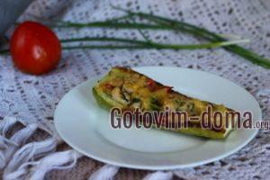 Лодочки из кабачков в духовке, рецепт с фото
