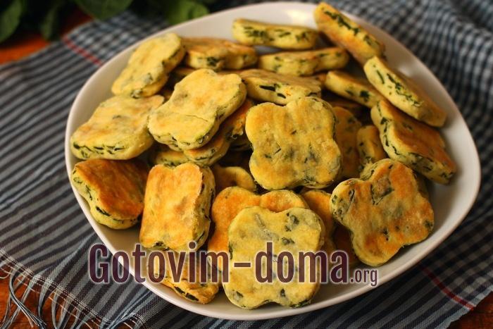 Самое вкусное печенье с сыром фета и шпинатом