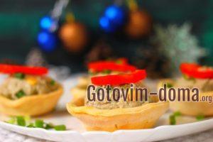 Праздничные тарталетки, рецепт с фото