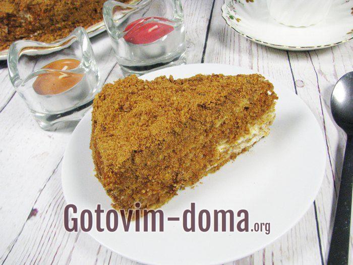 "Торт ""Медовик"". Рецепт с фото пошагово."