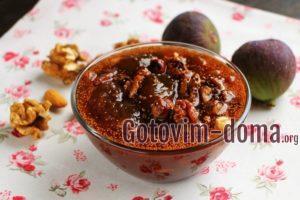Варенье из инжира с орехами, рецепт с фото.